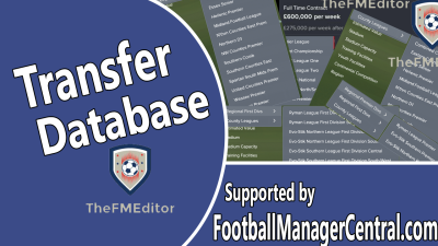 The FM Editor - Football Manager 2017 Transfer Database + England Level 9