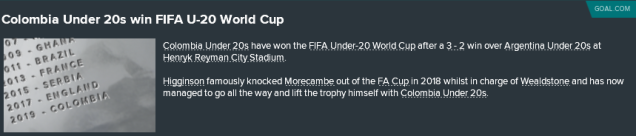 FIFA Under-20 World Cup Winners
