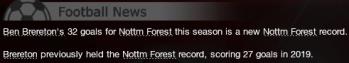 Goal Record